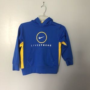 Nike kids livestrong sweatshirt xs